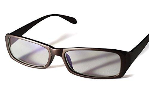 PENGIN PC(ペンギン ピーシー) 私はこれで十分 パソコン用 眼鏡 PCメガネ ブルーライト カット 青色光 カット 伊達メガネ メンズ レディース PENGINロゴ入りグロス&ケース&ドライバー 4点セット (ブラウン)