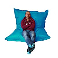Extra Large Giant Beanbag Teal Blue - Indoor & Outdoor Bean Bag - MASSIVE 180x140cm - great for Garden from Outside-In