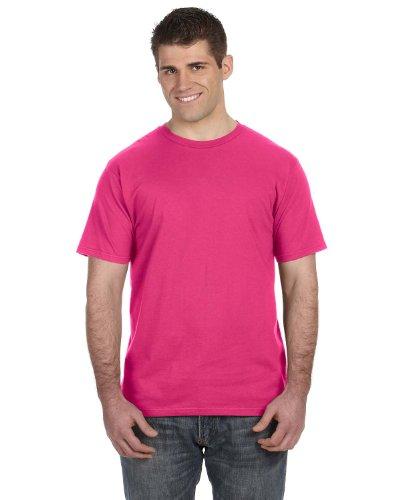 Anvil 980 Ringspun Cotton Fashion-Fit T-Shirt - Hot Pink - 3Xl front-555244