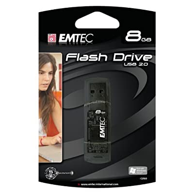 EMTEC C250 Candy Series 8 GB USB 2.0 Flash Drive (Black)