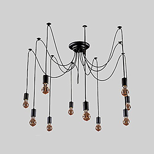 LiKee Chandelier Vintage Design Bulbs Included Living 10 Lights (Island Hood Insert compare prices)