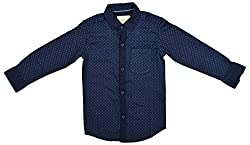 Zedd Boys' Cotton Shirt (E-C Zks1059D_24, Blue, 24)
