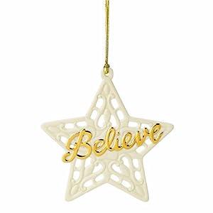 #!Cheap Lenox Pierced Believe Ornament