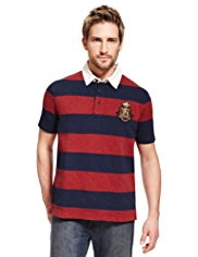 Blue Harbour Pure Cotton Cut & Sew Striped Polo Shirt