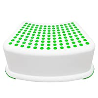 Kids Green Step Stool - Great For Potty Training, Bathroom, Bedroom, Toy Room, Kitchen, and Living Room. Perfect For Your House by Tundras