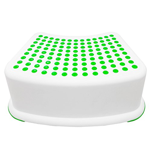 Kids Green Step Stool - Great For Potty Training, Bathroom, Bedroom, Toy Room, Kitchen, and Living Room. Perfect For Your House (Step Stool For Kids compare prices)