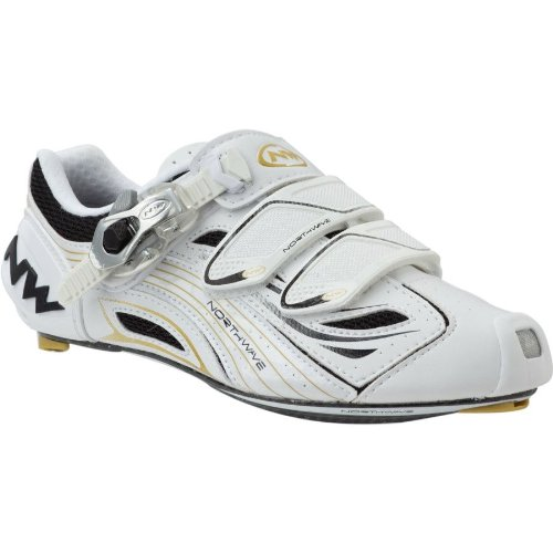 Northwave Typhoon SBS Road Cycling Shoe Womens 39eu 7us White/Gold