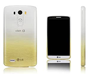 Xcessor Transition Color Flexible TPU Case for LG G3. With Gradient Silk Thread Texture.Transparent / Gold