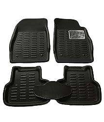 ZORDEN 3D Car Foot Mats, Floor Mats Black Color For Maruti Suzuki S-Cross Set Of 5