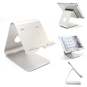 SYARIN(TM) High Grade Aluminum Alloy Tablet stands and holders for iPad and Samsung Galaxy Tablets Stable Enough to Support the weight (Silver)