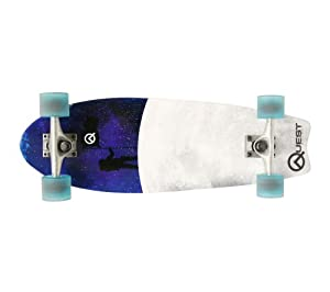 Buy Quest Fishtail Cruiser Board Skateboard (27-Inch) by Quest