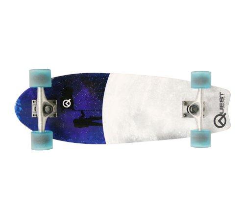 Quest Fishtail Cruiser Board Skateboard (27-Inch) (Skateboard Quest compare prices)