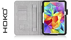 Galaxy Tab S 10.5 Case, HOKO Black Leather Flip Cover Book Case with Card Slot and magnetic closure for Samsung Galaxy Tab S 10.5 (Auto Wake Sleep)