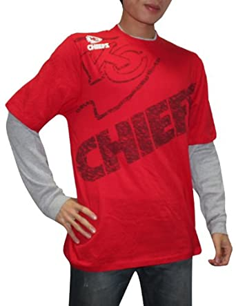 NFL Kansas City Chiefs Mens Layered Jersey Shirt (Vintage Look) by NFL