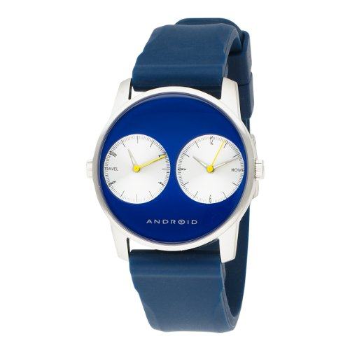 Android Unisex AD247BBUL Spy Dual Time Zone Blue Dial WatchAndroid Unisex AD247BBUL Spy Dual Time Zone Blue Dial Watch