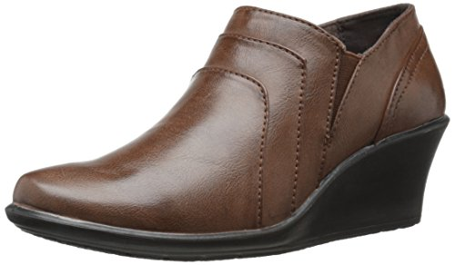 Easy Street Virgo Donna US 11 Marrone Larga Scarpa con la Zeppa