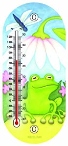 Toland Home Garden 220074 8-Inch Thermometer, Little Green Frog