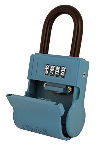ShurLok SL-600W 4 Dial Numbered Key Storage Combination Lock Box, Blue (Key Storage compare prices)