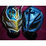SIN CARA BLUE & colour will vary REY MYSTERIO MASK WWE WRESTLING FANCY DRESS UP COSTUME OUTFIT SUIT ZIP UP CHILD KIDS BRAND NEW MEXICAN RAY LUCHADORE