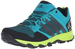adidas Outdoor Men\'s Kanadia 7 GTX Trail Running Shoe, Equivalent Green/Black/Semi Solar Slime, 7.5 M US