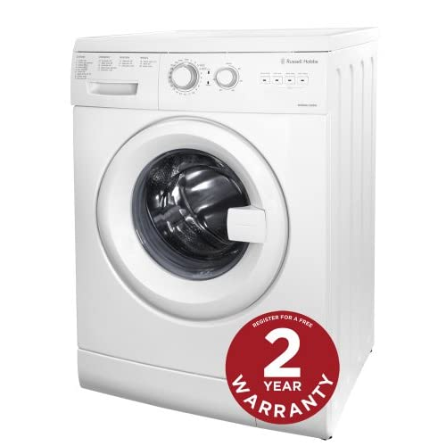 Russell Hobbs Freestanding RHWM61200W 6KG White Washing Machine - Free 2 Year Warranty*
