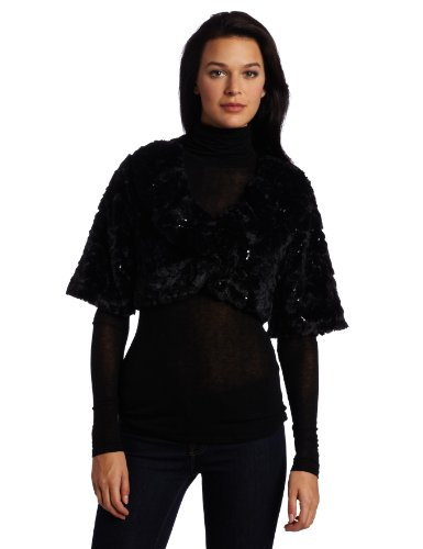 AGB Women's Crop Jacket with Three Quarter Sleeves