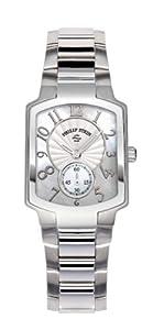 Philip Stein 21-FMOP-SS - Reloj analógico de cuarzo para mujer con correa de acero inoxidable, color plateado