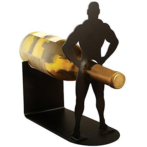 Vlad The Impaler Body Builder Wine Holder - Funny Bottle Rack Kitchen Decor