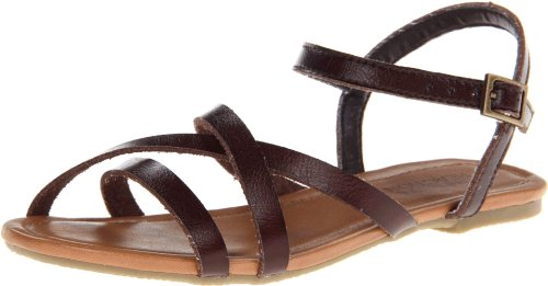Kenneth Cole Reaction New Tune Synthetic Sandal (Little Kid/Big Kid),Dark Brown,2 M Us Little Kid front-910322