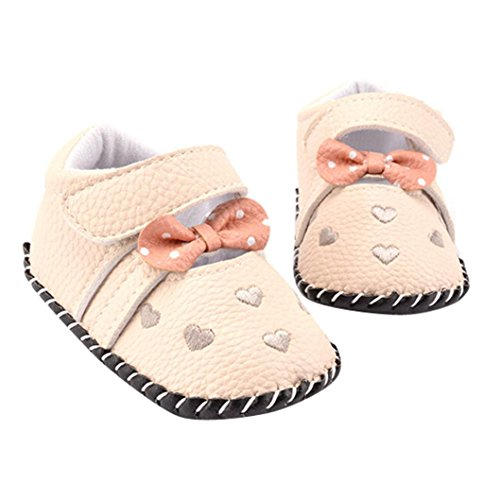 Voberry Infant Toddlers Baby Girls Soft Soled Embroidered Crib Shoes (12~18 Month, A)