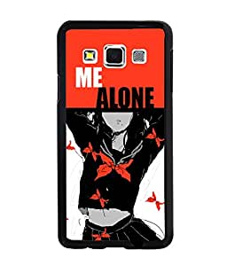 PrintDhaba Butterfly Pattern Girl Back Case Cover for SAMSUNG GALAXY A3 - D3748