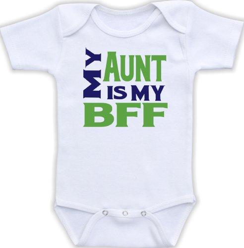 My Aunt Is My Bff (0-3M Bodysuit, Boy Color Scheme)
