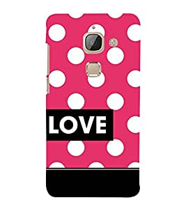 Love Dot Pattern Cute Fashion 3D Hard Polycarbonate Designer Back Case Cover for LeEco Le 2s :: Letv 2S :: Letv 2