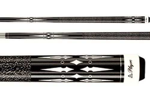 Players Midnight Black Pool Cue With Floating Daggers, Diamond, And Ring Transfers Style: 19 Oz.