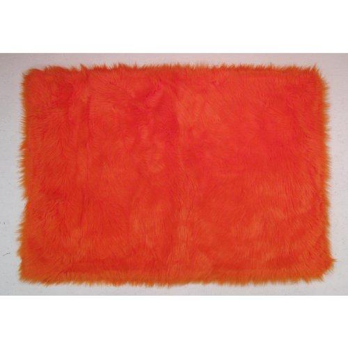 Flokati Area Rug Orange 31