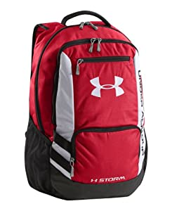 Under Armour Hustle Backpack, Red, One Size