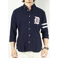 (バレッタ) Valletta 3color さがら刺繍ワッペン付き袖ライン入り7分袖シャツ