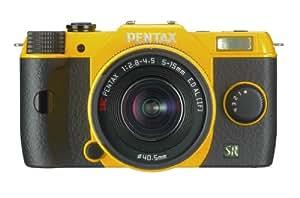 "Pentax Q7 Appareil photo hybride 3"" (7,62 cm) 12 Mpix Jaune + Objectif 5 - 15 mm"