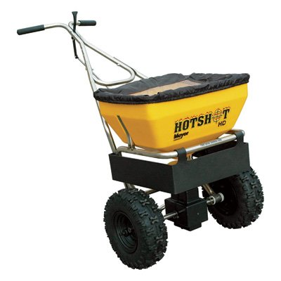 Meyer Hot Shot Professional Walk Behind Spreader - 70-Lb. Capacity, 1.3 Cu. Ft. Hopper, Model# 38180 image