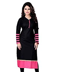 Shyam Creation New Cotton Kurties(black)