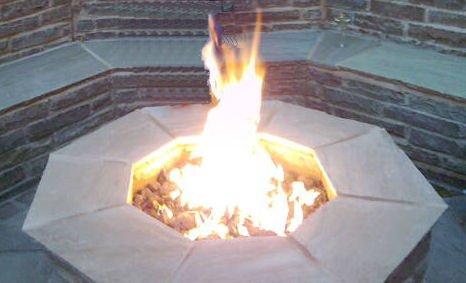 Brightstar, Gas Fire Pit Burner, Octagonal, 18kw, Lpg Gas