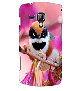 ColourCraft Beautiful Bird Design Back Case Cover for SAMSUNG GALAXY S DUOS 2 S7582