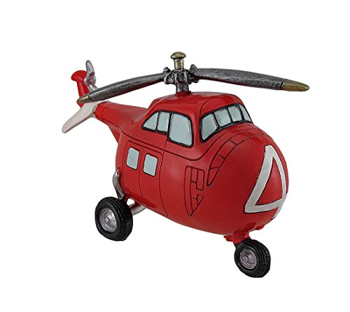 Red And White Helicopter Coin Bank - 1