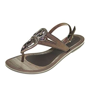 GRENDHA - Chaussures Femmes - IS MAGIA SANDAL FEM - 81275 - beige bronze brown, Taille:41/42