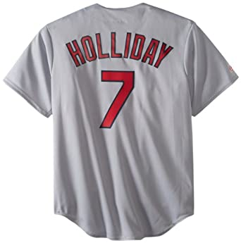 MLB St. Louis Cardinals Matt Holliday Road Gray Replica Baseball Jersey, Road Gray by Majestic
