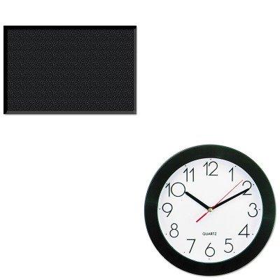KITMLLUG030504UNV10421 - Value Kit - Guardian UltraGuard Indoor/Outdoor Floor Mat (MLLUG030504) and Universal Round Wall Clock (UNV10421)