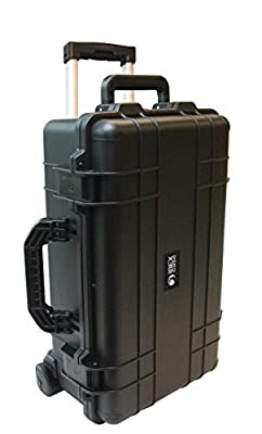 IBEX Cases - 1800 with Foam, Wheels, Handle. Black Carry On Hard Rugged Protective Case for Electronics, Equipment, Cameras, Tools, Drones, and More