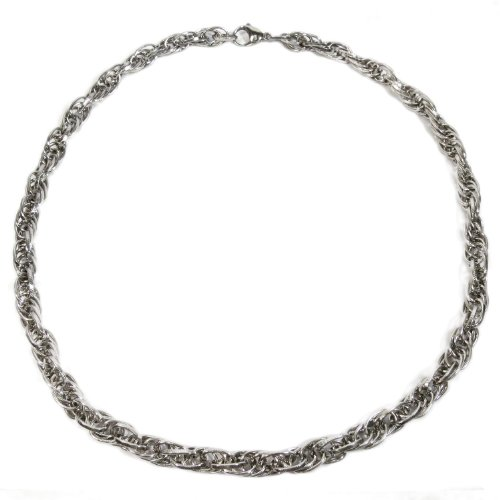 Kaon Stainless Steel Loose Rope Chain Men Necklace 9MM 18 inches