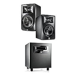 JBL LSR305 5-inch Two-Way Powered Studio Monitors (PAIR) w/ 1 JBL LSR310S from JBL