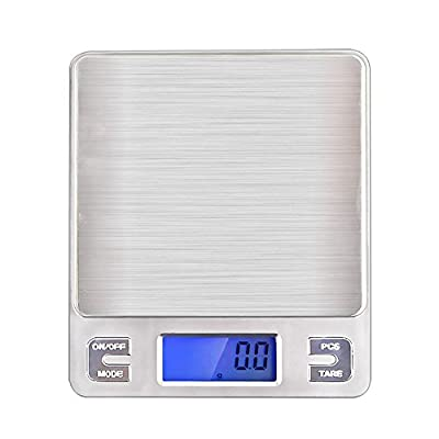 Kitchen Food Scale, DaPai 0.01oz/0.1g 3000g Digital Scale, Stainless Steel Weighing Platform, LCD Display, 6-Unit Modes,Silver